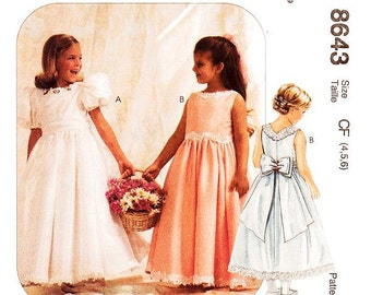 Sz 4/5/6 - Girls'/Toddler Dress Pattern McCall's 8643 -  Girls' Dress and Petticoat - Special Moments