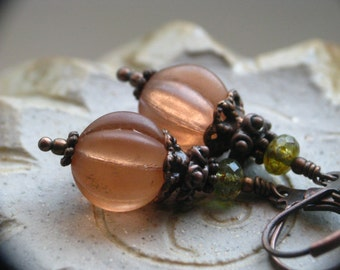 Vintage Style Pumpkin Earrings for Halloween