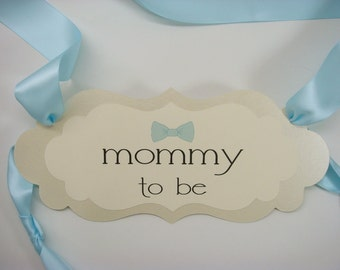 baby boy bow tie theme shower mommy to be chair sign baby shower