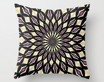 Purple Throw Pillow, Abstract Art Pillow, Purple Pattern Throw Pillow Cover, Geometric Pattern Pillow, Purple Pattern Home Decor, Symmetry