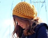 CROCHET PATTERN - Slouch Hat Crochet Pattern, Slouchy Hat Pattern, Chunky Slouchy Hat Crochet Pattern, Crochet Tutorial, Women's Slouch Hat