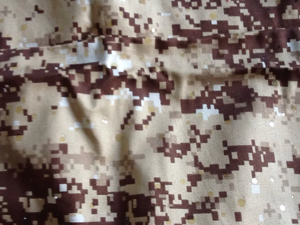 Camouflage fabric pixellated pixels minecraft sequins from for Minecraft fabric by the yard