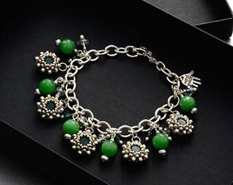 Chain Reaction Bracelet Jade