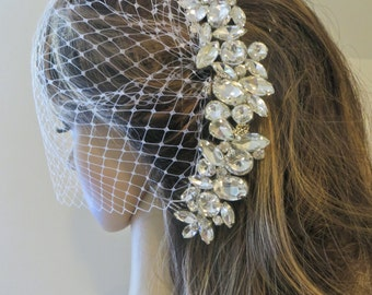 Russian Bridal Veil, Russian Birdcage Veil, Russian Wedding Veil,  French Birdcage Veil, French Blusher Veil