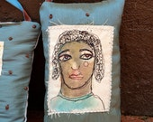 Contemplation- Art Pillow by Trish Vernazza