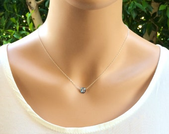 Blue Mystic Topaz Necklace - choose Gold  Silver  Rose Gold