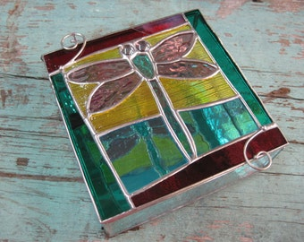 Fun Stained Glass Dragonfly Box