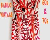 70s psychadelic long dress