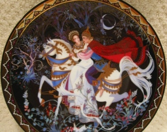 """vintage Royal Porcelain Kingdom of Siam  """"The Exile""""  limited edition collector's plate from the Love Story of Siam. . # 5"""
