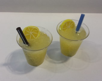 American Girl Doll Food Drinks 2 Glasses Frozen Lemonade
