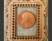 MINI Size Mini Masterpiece Frame DIY Pendant *Silky Oak Wood*