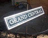 NYC Subway Styled Mosaic Glass Sign or Install - Grand Central
