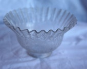 Victorian Glass Etched Light Fixture Lamp Shade Gas or Electric