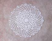 White Lace Crochet Table Doily, Modern Home Decor, Elegant, New