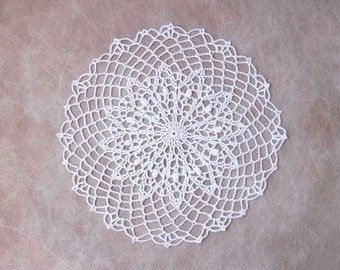 White Decorative Crochet Lace Doily, Table Accessory, Home Decor, Weddings