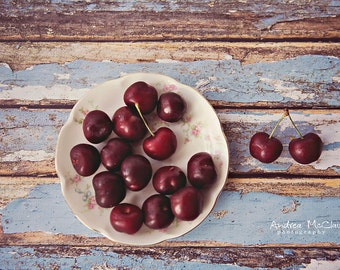 Plate Of Cherries ~ 8x10 Photo Print