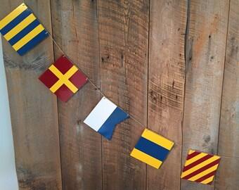 Custom Nautical Maritime Name Flag Bunting-Banner