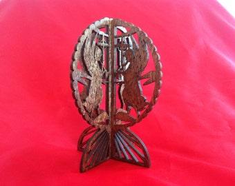 3D Standing Angel Celebration - Red Oak