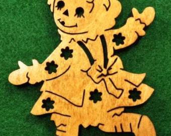 Wood Raggedy Ann Ornament