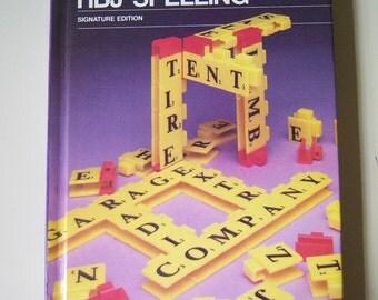 HBJ Spelling signature edition purple copyright 1988 hardback speller