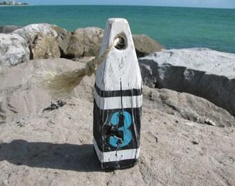 Wood Buoy. Wooden Buoys. Handmade Nautical Decor. Beach Decor. Lake Decor Made to order