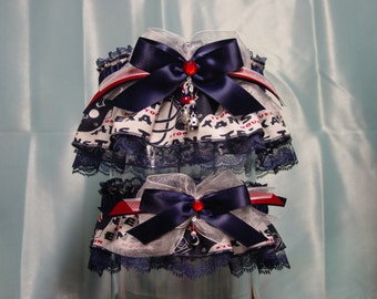 Houston Texans Wedding Garter Set