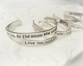 Customized Bracelet, Personalized Bracelet, Hand Stamped Bracelet. Custom Jewelry, Personalized, Silver Bracelet, Custom Silver Bracelet