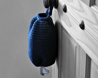 Blue Plastic Grocery Bag Holder Kitchen Organizer Modern Home Decor Spare Bag Dispenser