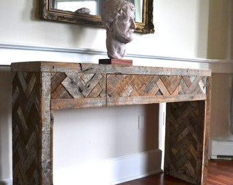 reclaimed wood console table steel console table steel and wood table