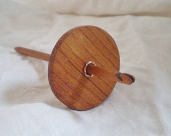 Split Notch Spindle High Whorl yucatan Rosewood and Cherry with copper twist laceweight 16 g