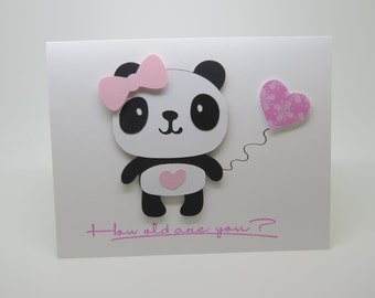 Panda so how old are you greeting card