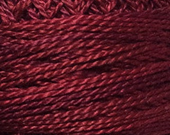 Size 12, O503, Valdani Perle Cotton, Garnets, Embroidery Thread, Punch Needle, Embroidery, Penny Rugs, Sewing Accessory
