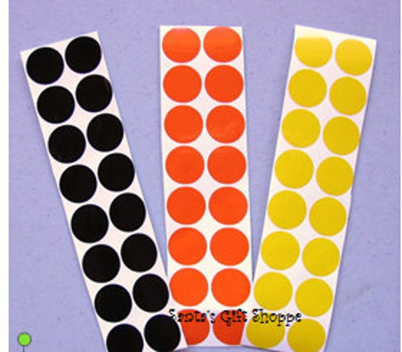"60 3/4"" Polka Dot Gloss Sticker Sheet - 60 Polka Dots - Vinyl Decals -  Sticker Sheet - Stemware Gasses - Bridal Party"
