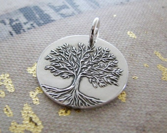 Spring, Fine Silver Tree Pendant, Artisan Handmade by SilverWishes, Original and Exclusive Design