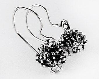 Adorable Hedgehog Sterling Silver Earrings
