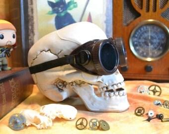 Vintage Dark Brown Wilson Welding Steampunk Goggles