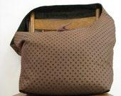 BROWN HOBO BAG - Crossbody Bag - Large Bag - Oversized Bag - Over Shoulder Bag - Crossbody Hobo Bag - Vegan Bag - Polka Dot Bag - Boho Bag