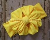 Yellow Messy Bow Head Wrap - Pool Safe