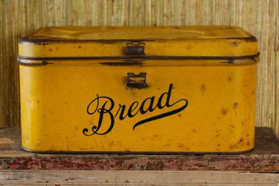 Antique Metal Bread Box Vintage Empeco Shabby Patina Worn