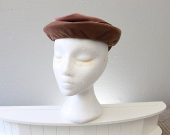 Vintage Brown Fascinator hat