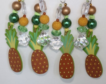 Pineapple Tablecloth Weights Set of 4