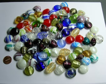 1 pound - quality handmade Lampwork glass bead - mix size - 1 full pound