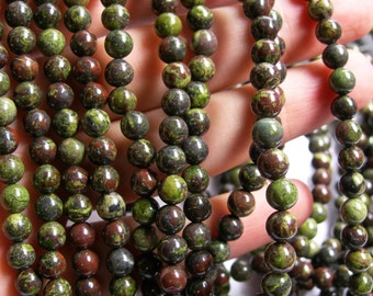 Dragons blood jasper - 6mm round beads -  full strand - 65 beads  - RFG326