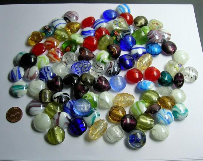 1 pound - quality handmade Lampwork glass bead - mix size - 1 full pound