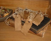 Small Stained Hang Tags. Grubby hang tags. Grubby Craft. Craft supplies. Handmade by The Crafters Loft