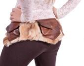 RusticSsquirrel Faux Fur Utility Belt