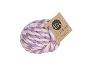 Lavender Color Twist Wool / 10 Yards