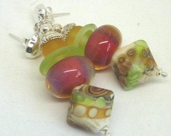 Lampwork Earrings, SERENITY