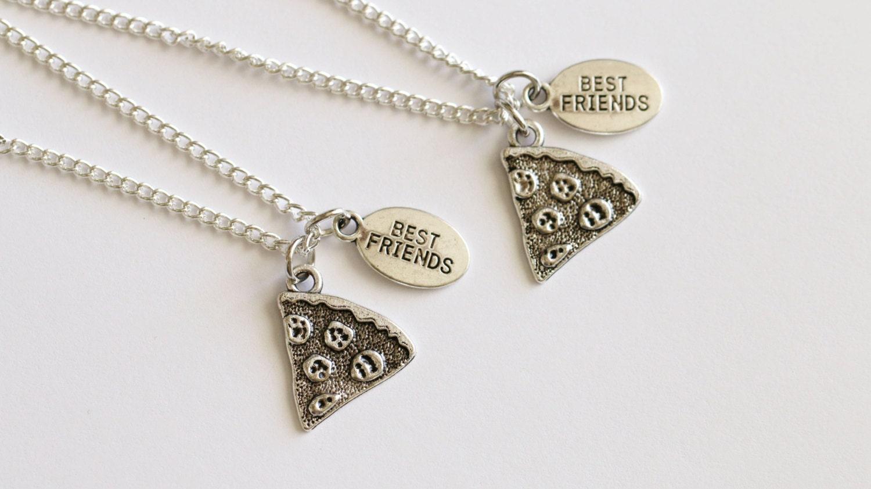 pizza friendship necklace 2 best friend necklaces pizza