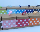 Polka Dot Paper Ribbon in Color of Your Choice